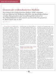 Grenzen der evidenzbasierten Medizin - Hontschik.de