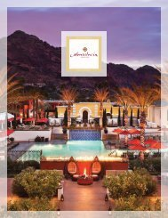 Fact Sheet - Montelucia Resort & Spa