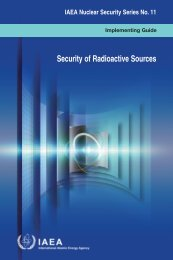 Security of Radioactive Sources - IAEA Publications - International ...