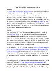 ETS Proficiency Profile Report Winthrop University 2011‐12 ...