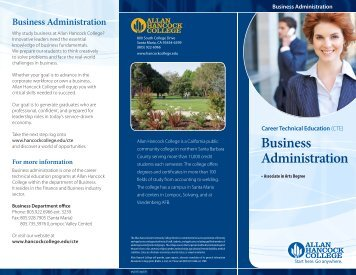 Business Administration - Allan Hancock College