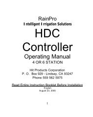 Hit Products Rain Pro HDC4 HDC6 Controller ... - Irrigation Direct