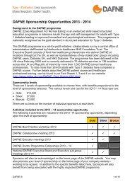 2013-14 Sponsorship Opportunities document - Dafne - Uk.com