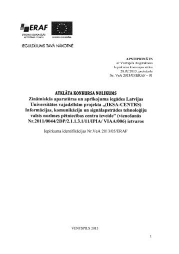 Nolikums - Ventspils Augstskola