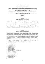 P.O.R. Sicilia 2000-2006 - Misura 5.05 - Bozza Accordo di Programma