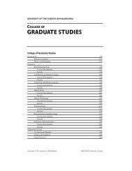 course descriptions - University of the Sciences in Philadelphia