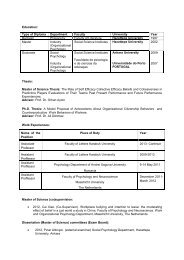 Education: Type of Diploma Department Faculty University Year ...