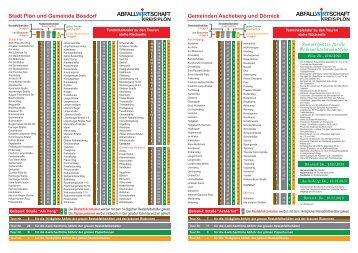 Tourenplan Kreis Plön (PDF) - Gollan Bau GmbH