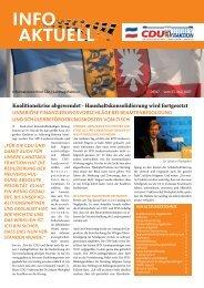 info aktuell Mai 2007 - CDU-Landtagsfraktion