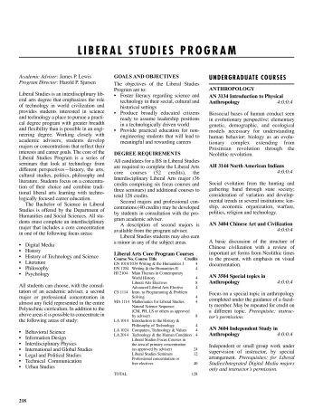 LIBERAL STUDIES PROGRAM - Polytechnic University