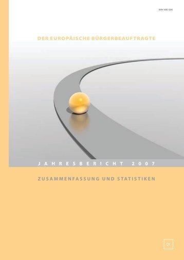 der europäische bürgerbeauftragte zusammenfassung und ... - EOI