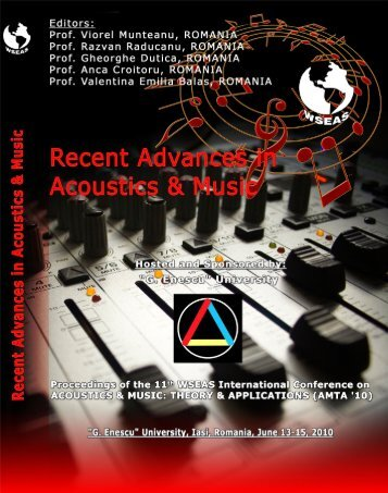 RECENT ADVANCES in ACOUSTICS & MUSIC ... - Wseas.us