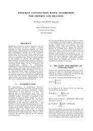 efficient convolution based algorithms for erosion and dilation