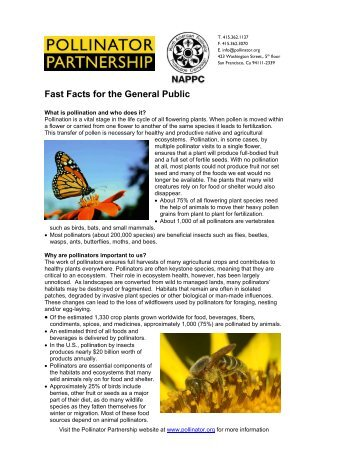 Fast Facts for the General Public - Pollinator Partnership