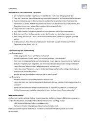 Informationen zur Anfertigung einer Facharbeit - Apostelgymnasium