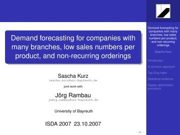 Demand forecasting for companies with many branches, low sales ...