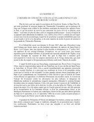 1 LE CHAPITRE XV L'HISTOIRE DU CONCILE DU VATICAN, LE ...