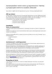 Samarbejdsaftale mellem skoler og daginstitutioner i Mørkhøj ...