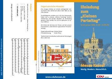 """Einladung zum """"Kleinen Parteitag"""" Messe Kassel - publi-com.de"""