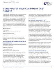 Using PIDs for Indoor Air Quality (IAQ) surveys