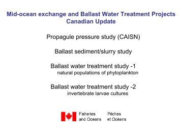 Mid-Ocean Exchange and Ballast Water Treatment Projects ...