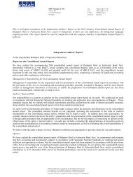 Report on the 2010 statutory Consolidated Annual ... - Budapest Bank
