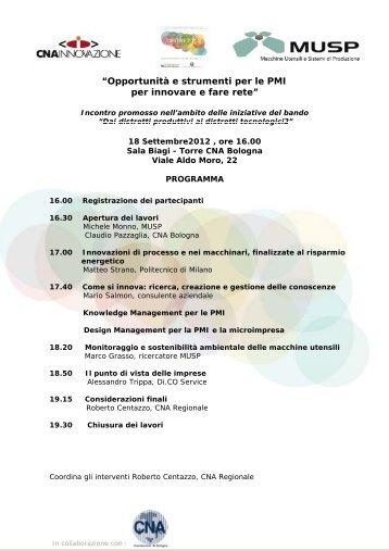 """""""Opportunità e strumenti per le PMI per innovare e fare rete"""" - First"""