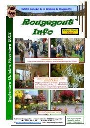 Sept Oct Nov 2012 - Rougegoutte