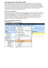 Sorteringsregler for MS Outlook 2007. - DLG Tele