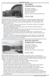 BACKMAN ELEMENTARY SCHOOL BEACON HEIGHTS ...