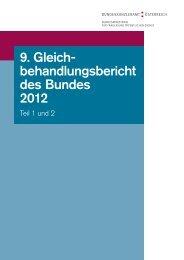 Bundes-Gleichbehandlungsbericht 2012 - Bundeskanzleramt ...
