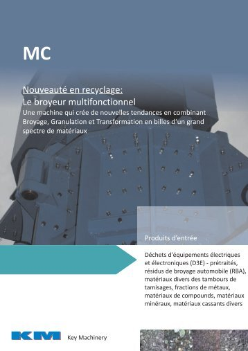 Nouveauté en rec cla e: yg Le broyeur multifonctionnel - KM-Recycling