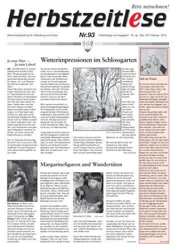 Herbstzeitlese Nr. 93, Dezember 2011/Januar 2012