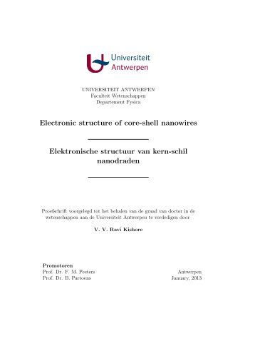 Electronic structure of core-shell nanowires Elektronische structuur ...