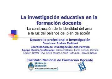 Investigacion en la FD - Cedoc - Instituto Nacional de Formación ...