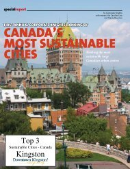 CANADA'S MOST SUSTAINABLE CITIES - Kingston