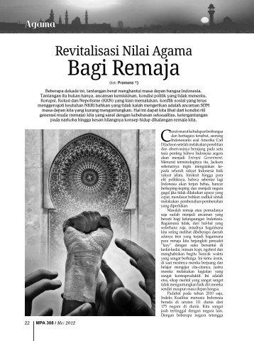 Revitalisasi Nilai Agama Bagi Remaja - Kemenag Jatim
