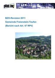 BZO-Bericht 30.7.12 Definitiv - Gemeinde Freienstein-Teufen