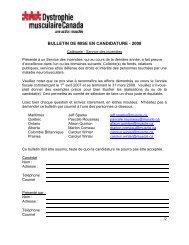 BULLETIN DE MISE EN CANDIDATURE - 2008