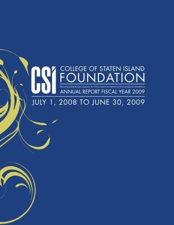 FOUNDATION - CSI Today