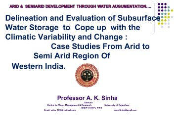 Delineation and Evaluation of Subsurface Water ... - CAZALAC
