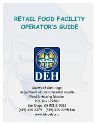Retail Food Facility Operator's Guide - San Diego Health Reports ...