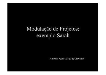 Modulação de Projetos: exemplo Sarah
