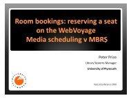 Room bookings / media scheduling booking screen – - IGeLU
