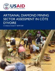 artisanal diamond mining sector assessment in côte d'ivoire