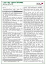 Ceļojumu apdrošināšanas noteikumi Nr.15 - BTA