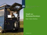 DigiD & Pensioenfondsen - Forum Standaardisatie