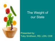 The Weight of our State - Lake County Health Department