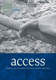 Access - improving the accessibility of historic buildings and places