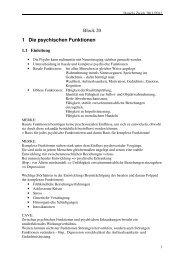 Block 20 1 Die psychischen Funktionen